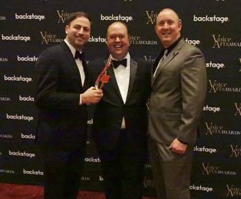 Jas Patrick J.Michael Collins and AJ McKay at Voice Arts Awards, SOVAS
